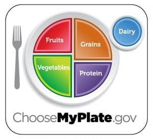 Choose a healthy plate - this diagram shows you what a healthy plate looks like.