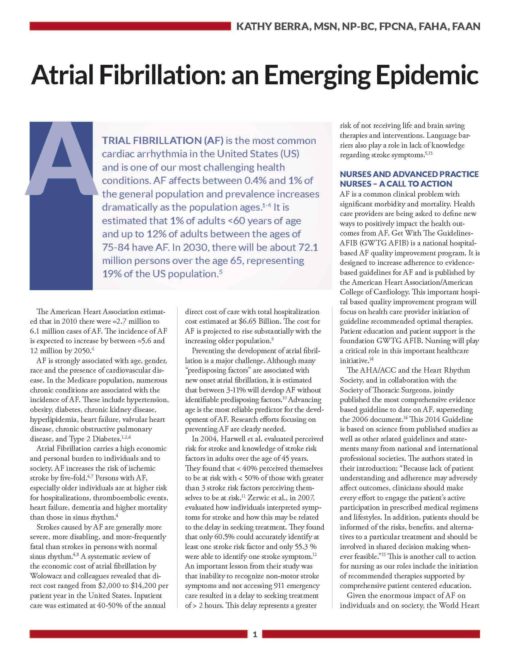 afib-supplement_emerging-epidemic
