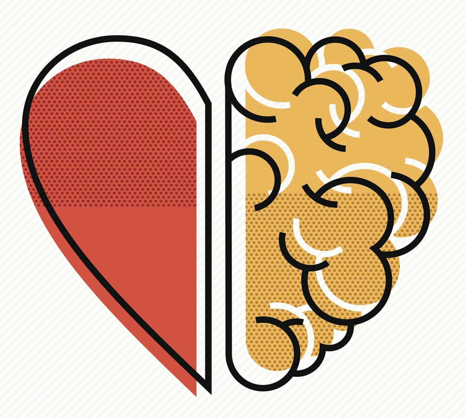 heart brain graphic