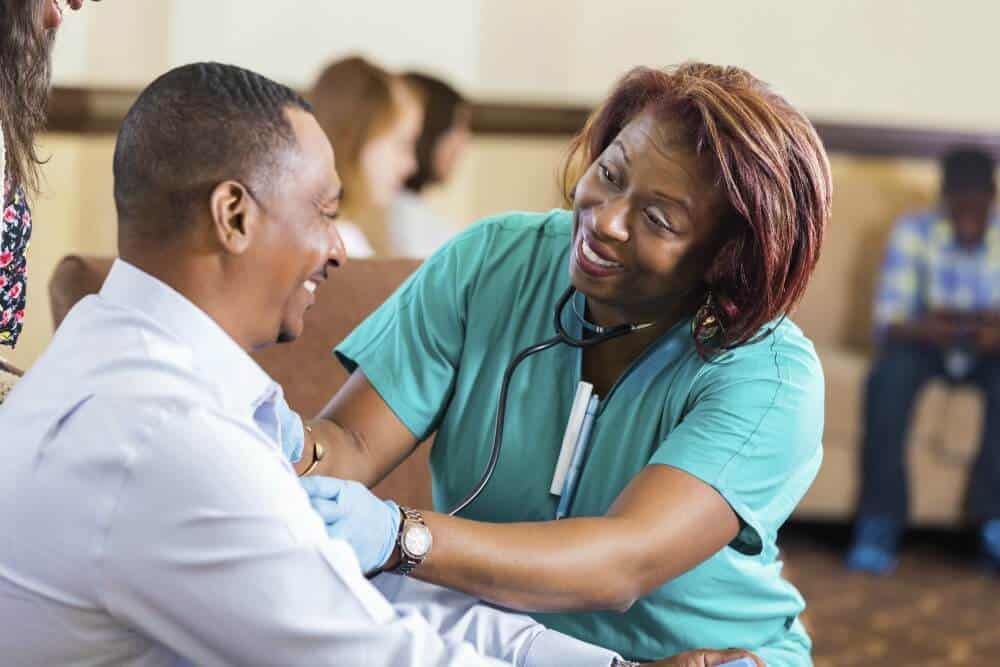 Nurse in community setting