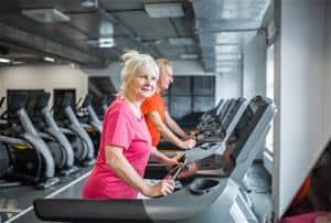 Older Adult Exercising on Treadmill