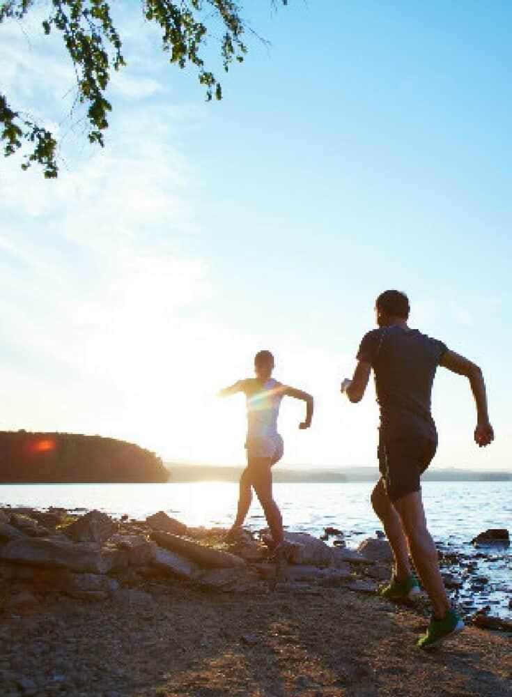 Running at the lake