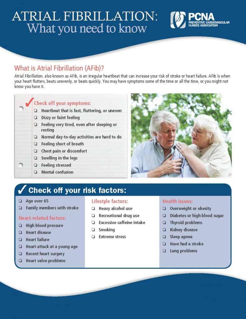AFib Patient Ed Sheet - English