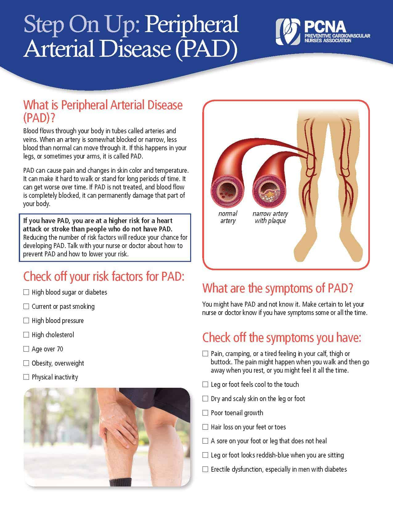 PAD Patient Ed sheet - English