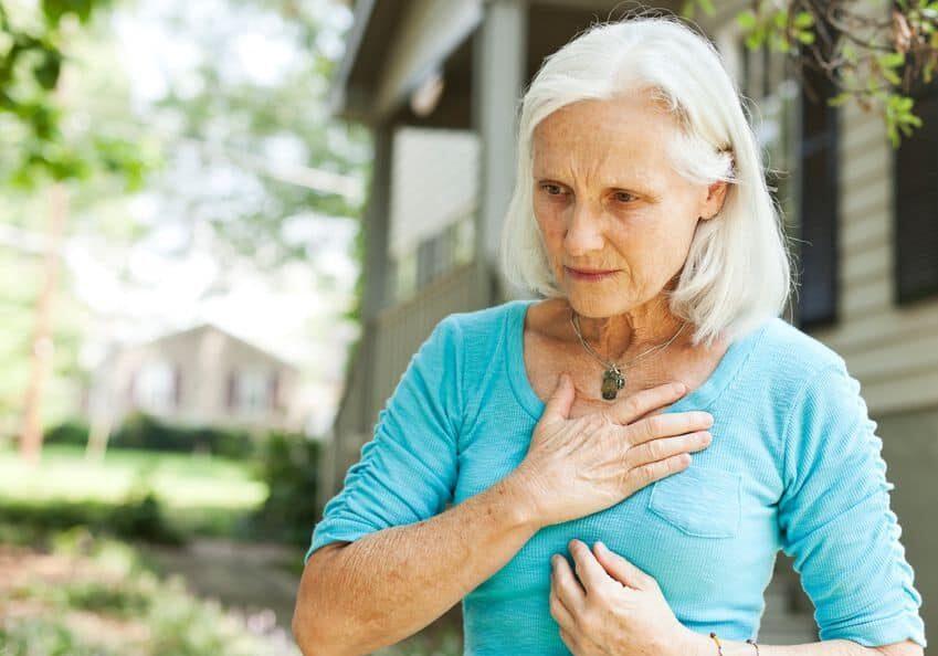 woman chest pain